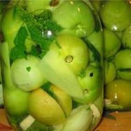 Marynowane zielone pomidory po rosyjsku